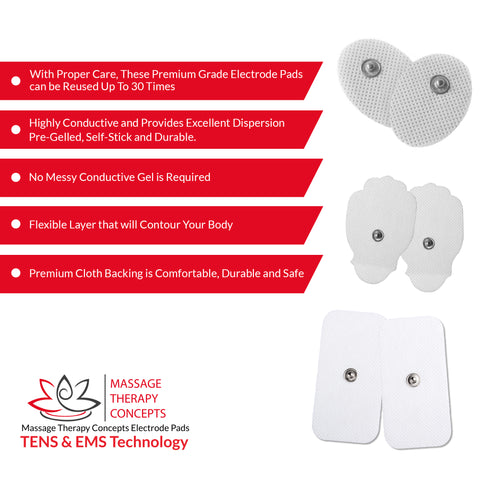 Verve TENS Unit + 20 pc. Electrode Pads Combo Set