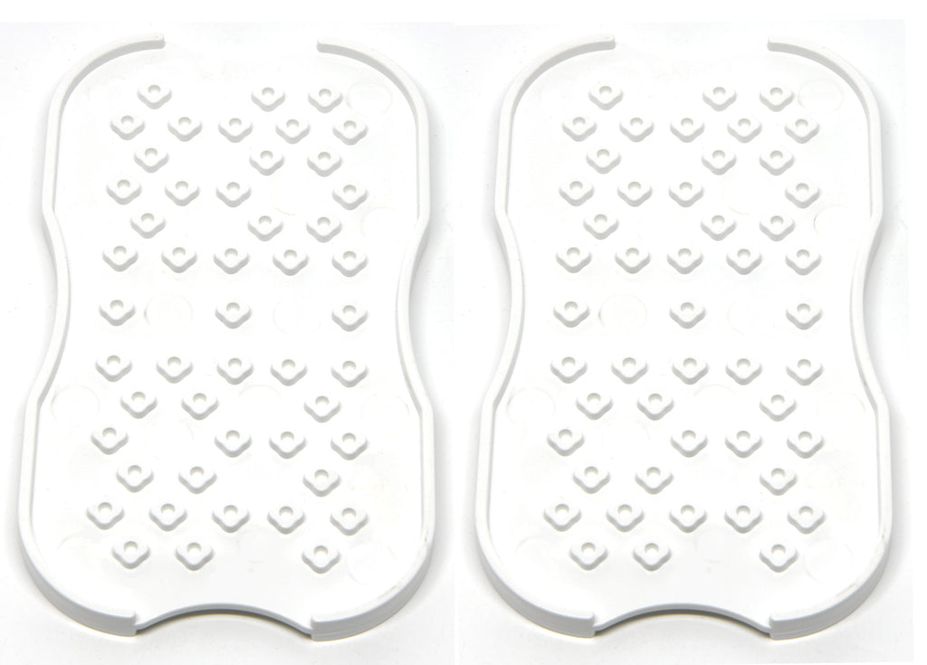2-Pack Electrode Pads Holders - Electrodes Patches ABS Plastic Board for Electronic Digital Massager TENS/EMS Unit Pads