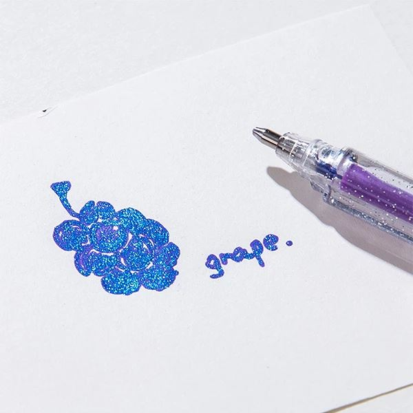 Stylo Gel à Paillettes (lot de 100) Raton Malin 100 couleurs