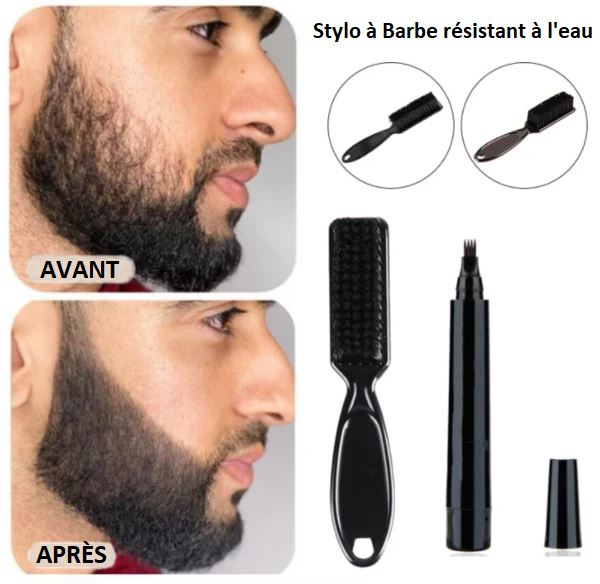 Stylo à Barbe Semi-permanent Flash Ventes Marron