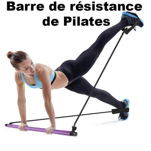 Kit De Barre De Pilates Portable Raton Malin Violet