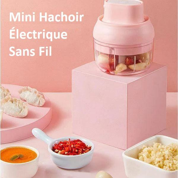 Mini Hachoir Électrique Sans Fil - TimeSave™ Flash Ventes Rose