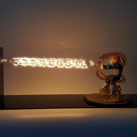 Lampe LED et figurine super saiyan vegeta raton-malin