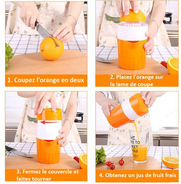 Extracteur De Jus Raton Malin Orange