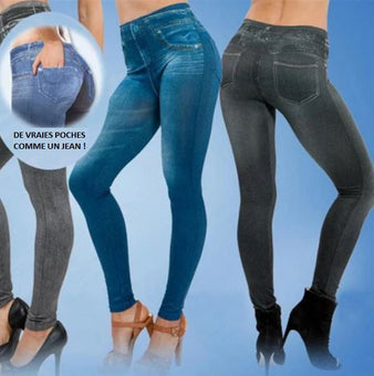 Jean Legging - Rehausseur Fessier - Extensible et Confortable Flash Ventes