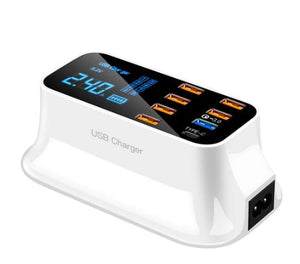 Chargeur Rapide USB 8 Ports 3.0 Affichage LCD Raton Malin