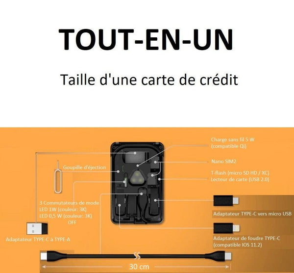 Adaptateur De Carte Universel Raton Malin Version normale