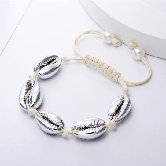 Bracelet Bohème Coquillages Hide Blanc