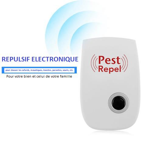 PESTREPEL™: Insectifuge à Ultrasons pour Insectes et Rongeurs raton-malin
