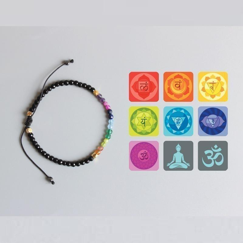 Bracelet 7 chakras et 12 constellations Raton Malin 12 Constellations