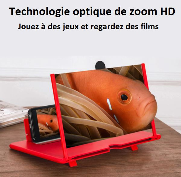Amplificateur d'Ecran Smartphone Pliable Flash Ventes Blanc