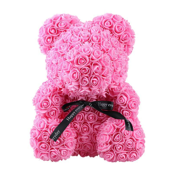 Ours en Peluche Roses Raton Malin Rouge