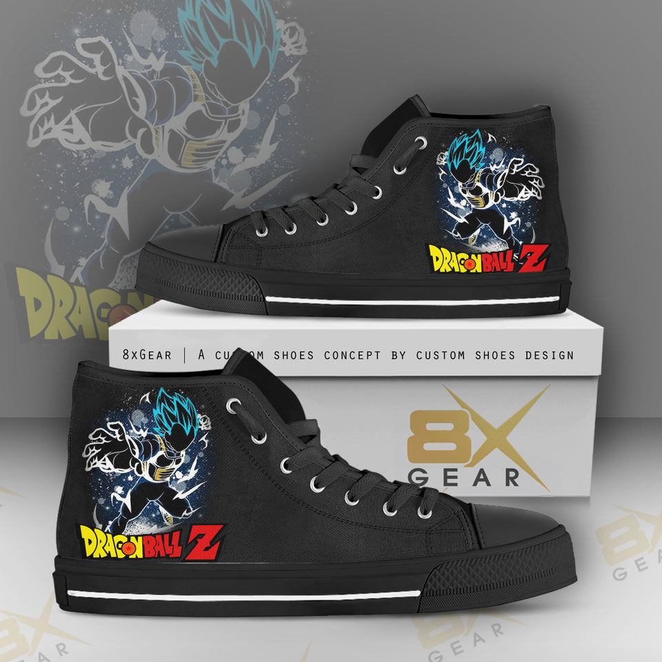 Dragon Ball Z Style 16 High Top Canvas Sneakers Athletic Shoes FREE SHIPPING