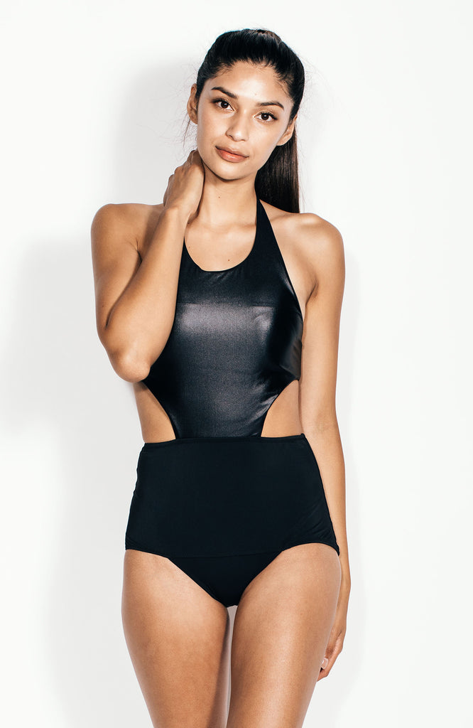 Minerva Maillot in Onyx