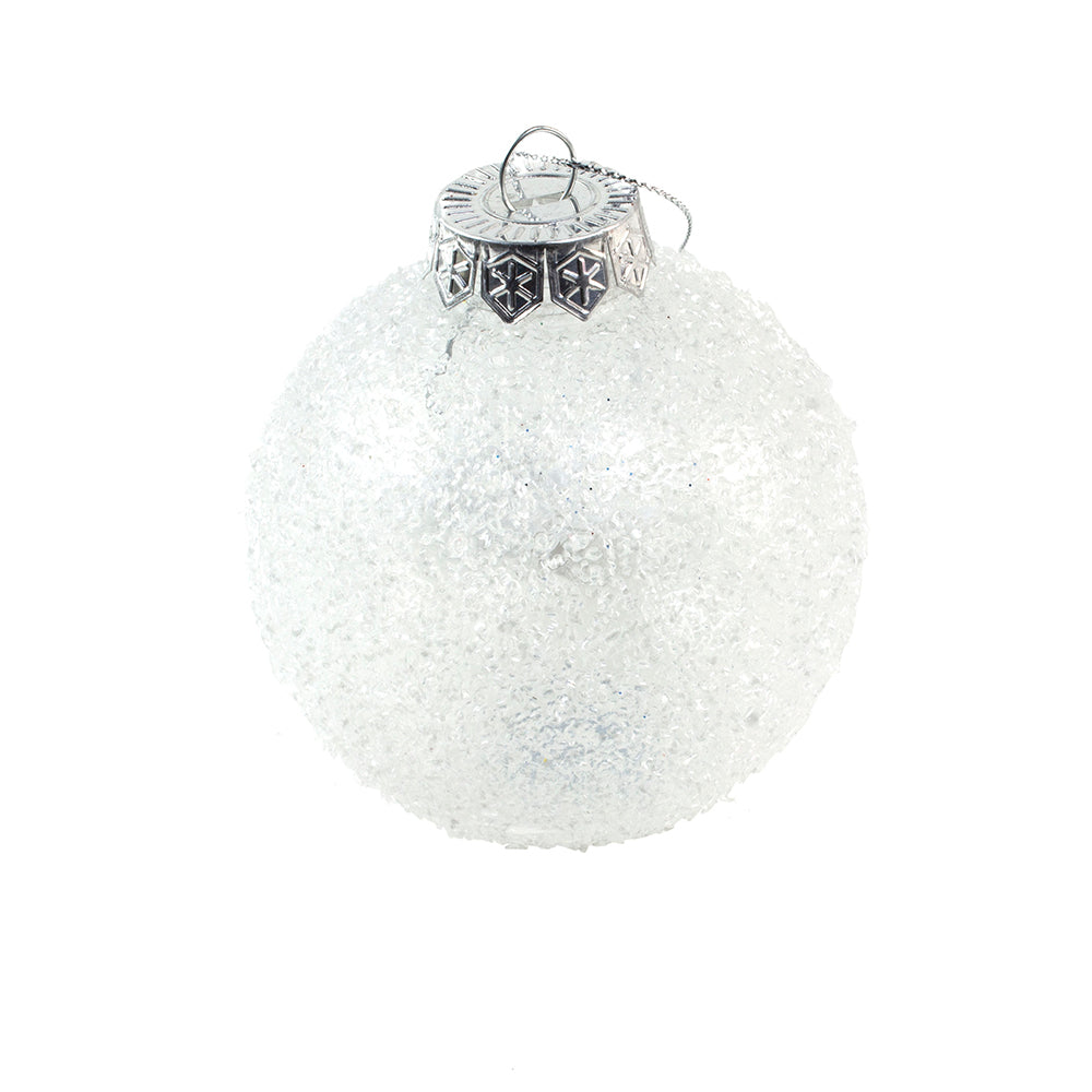 Decoris Clear Ice Finish Bauble
