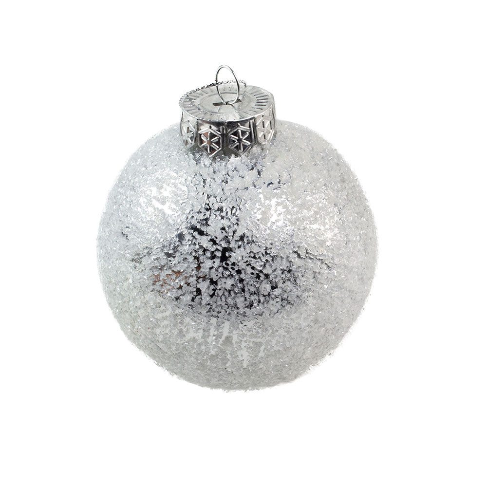 Decoris Sliver Ice Finish Bauble
