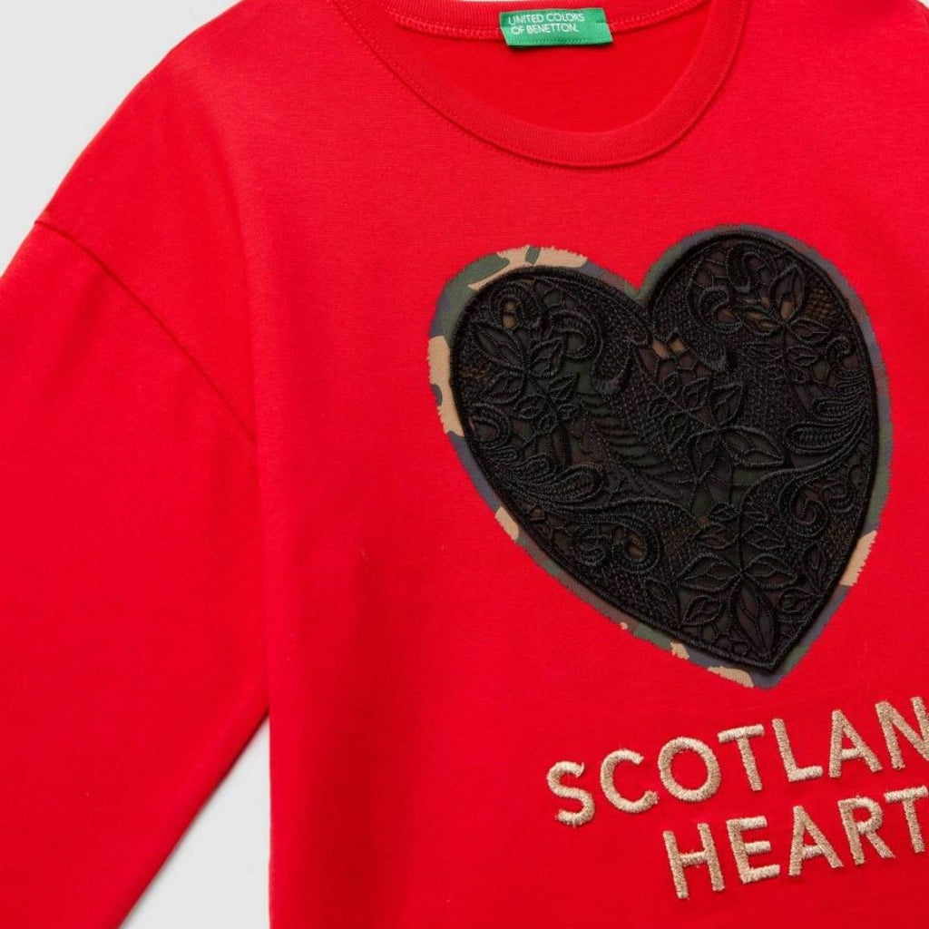 Benetton T-shirt with Print and Embroidery