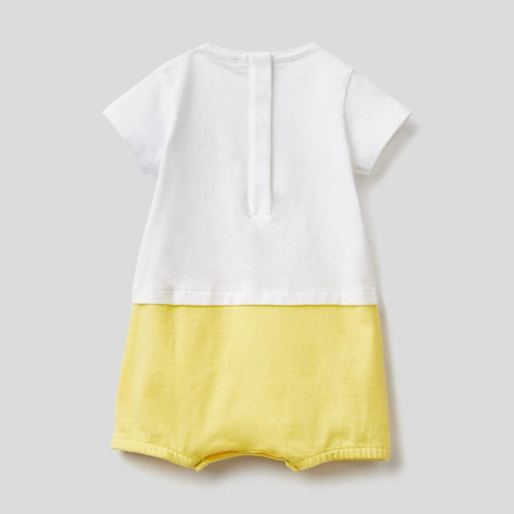 Benetton Short Romper in Organic Cotton