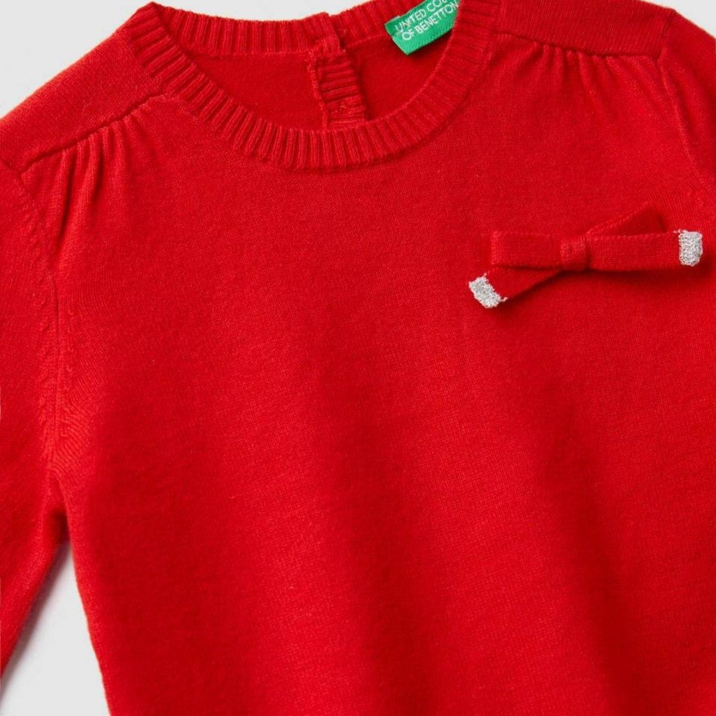 Benetton Sweater with Bow
