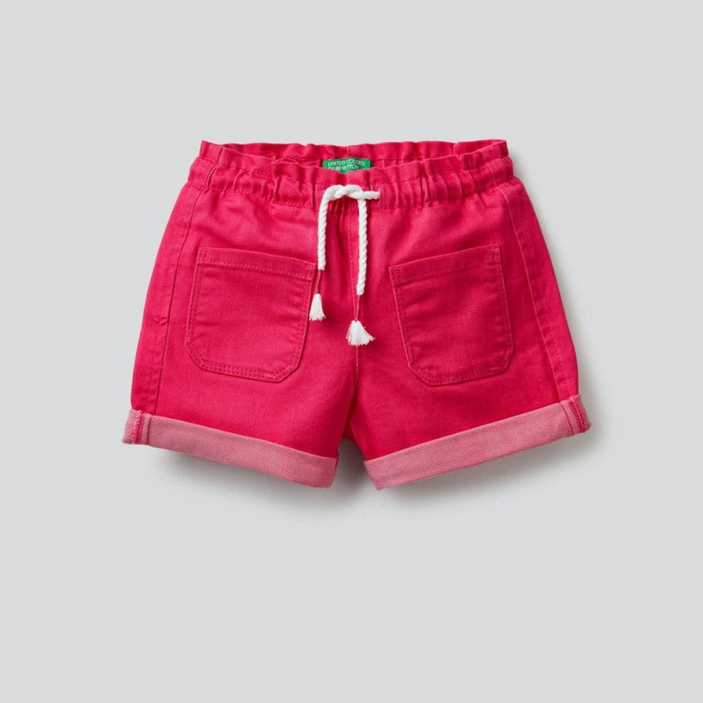 Benetton Shorts with Elastic Waistband