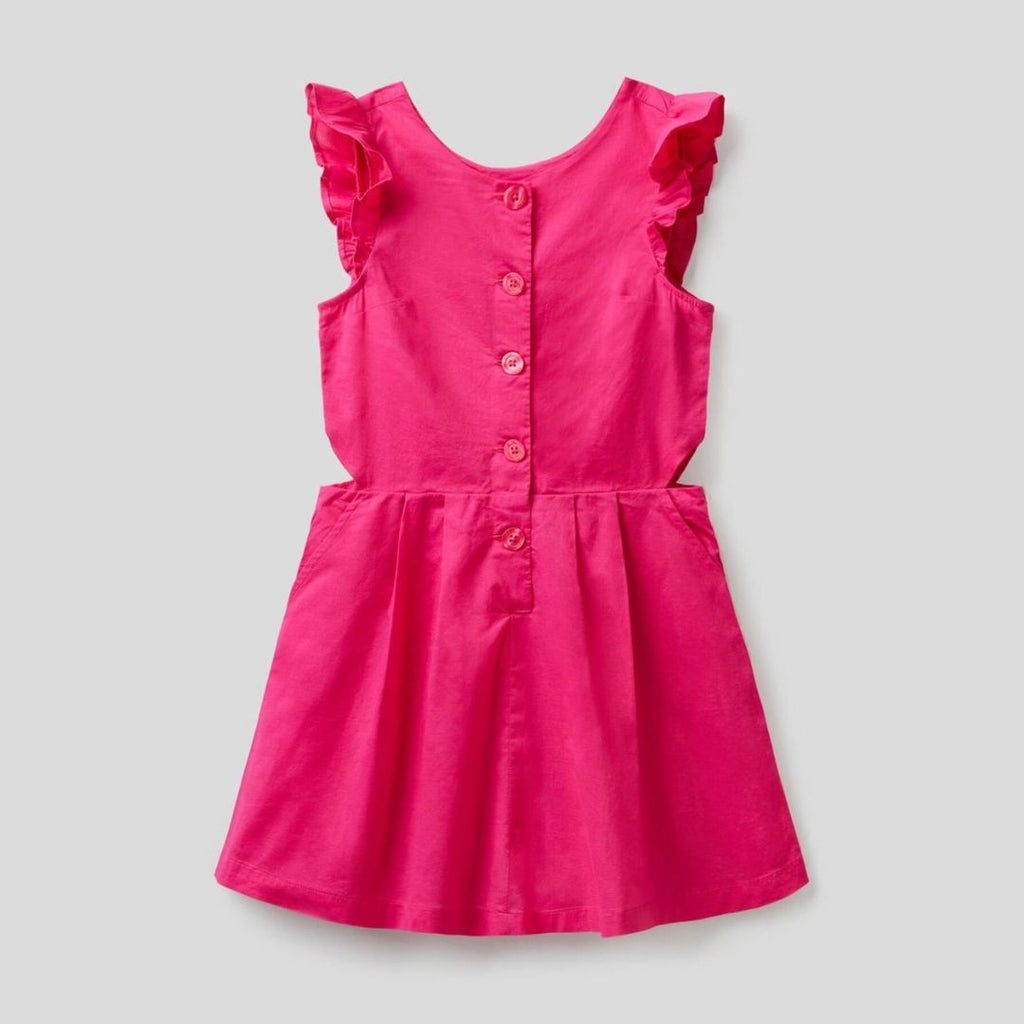 Benetton 100% Cotton Flared Dress
