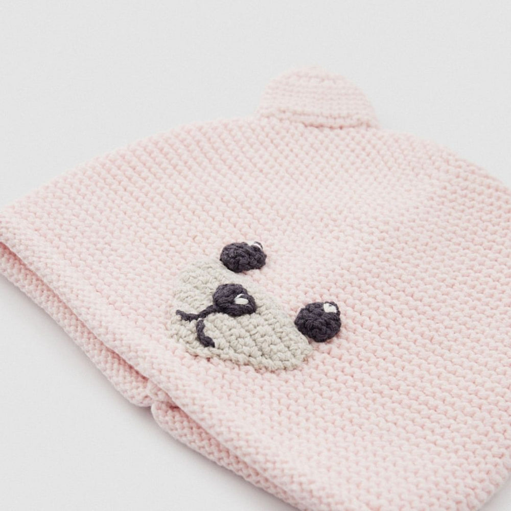 Benetton Tricot Hat with Applique