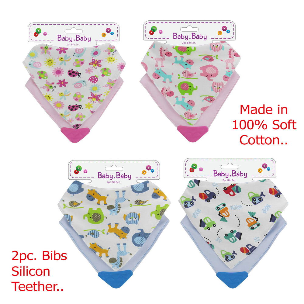 BabyBow 2pc Bandana Bibs