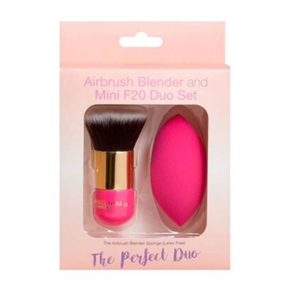Airbrush Blender and Mini F20 Foundation Brush Duo Set