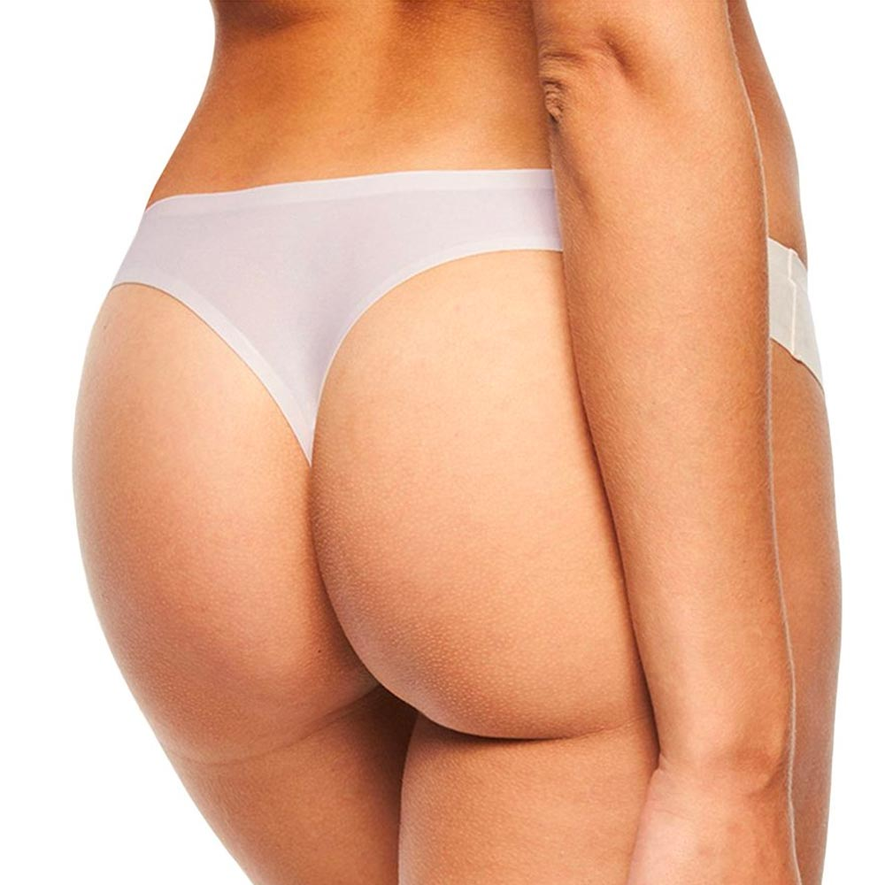 Chantelle One Size Soft Stretch Thong Brief - Cream