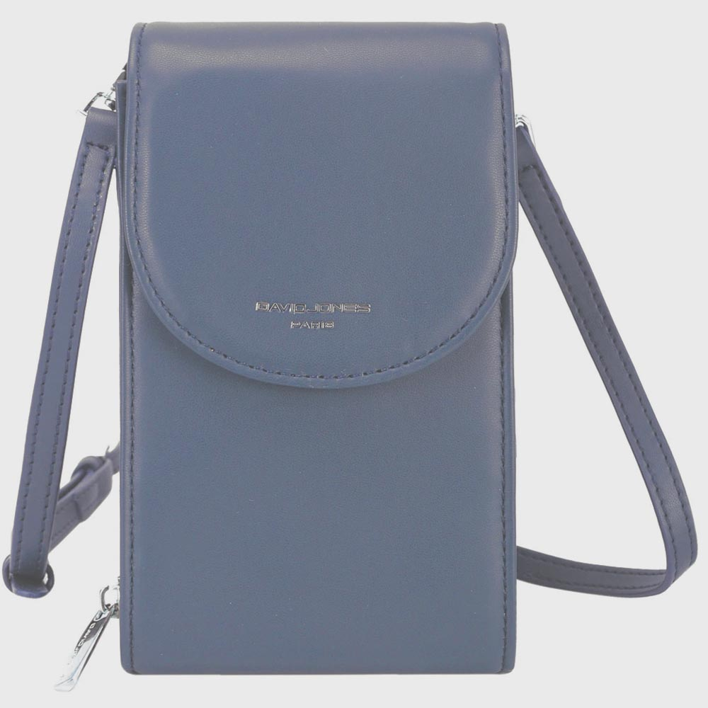 David Jones Blue Grey Crossbody Bag