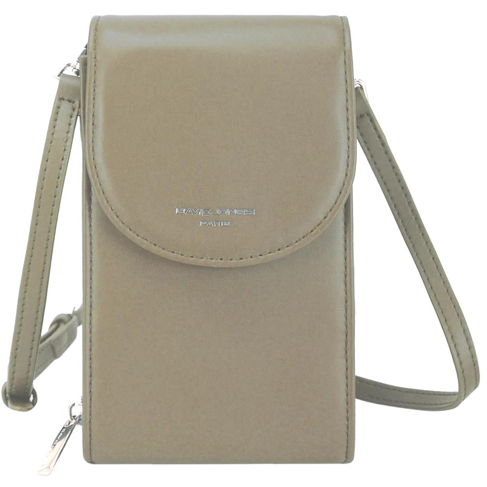 David Jones Taupe Crossbody Bag