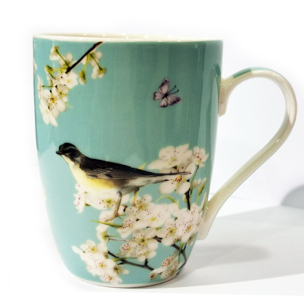 House of Alexander Blossom Birds Set of 6 Mugs