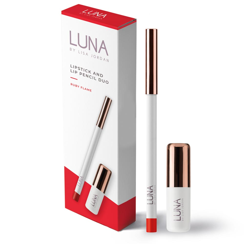 Luna by Lisa Lipstick & Pencil Duo - Ruby Flame