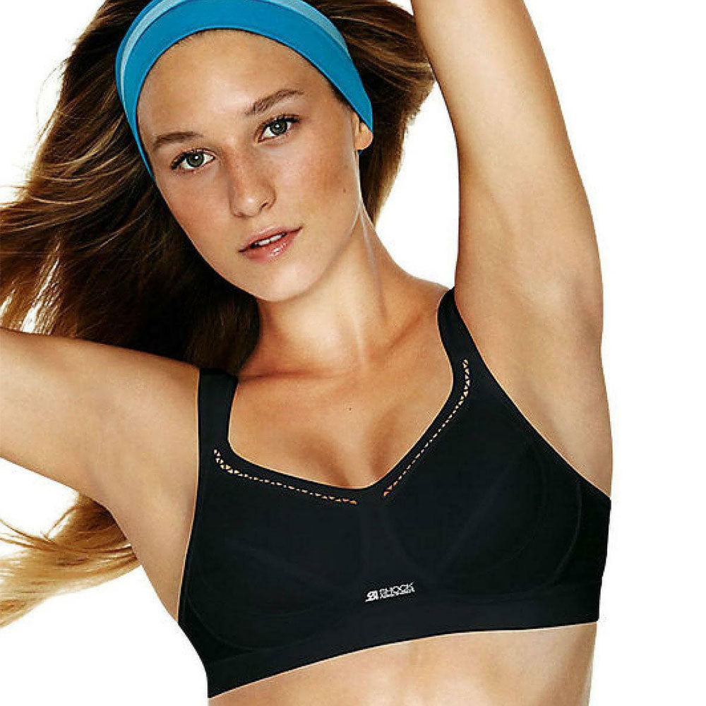 Active Classic Support Sports Bra By Shock Absorber Black - Good's. Kilkenny's leading ladies fashion store.