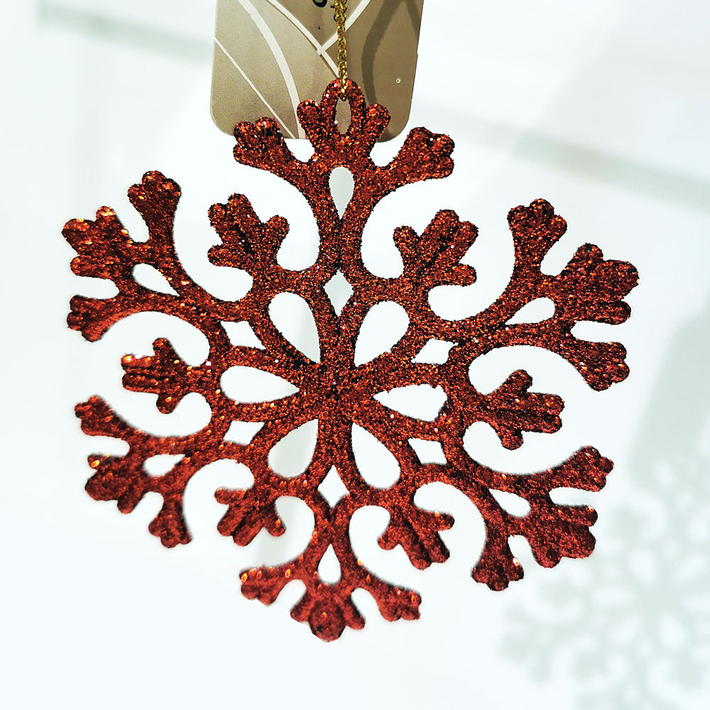 Decoris Red Glitter Tree Decorations