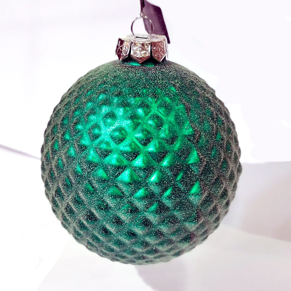 Decoris Green Frosted Bauble