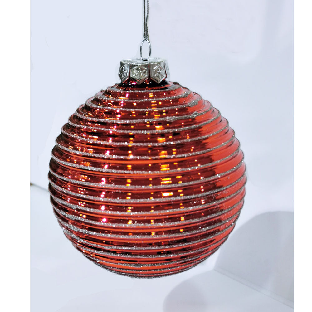 Decoris Red Reflective Bauble