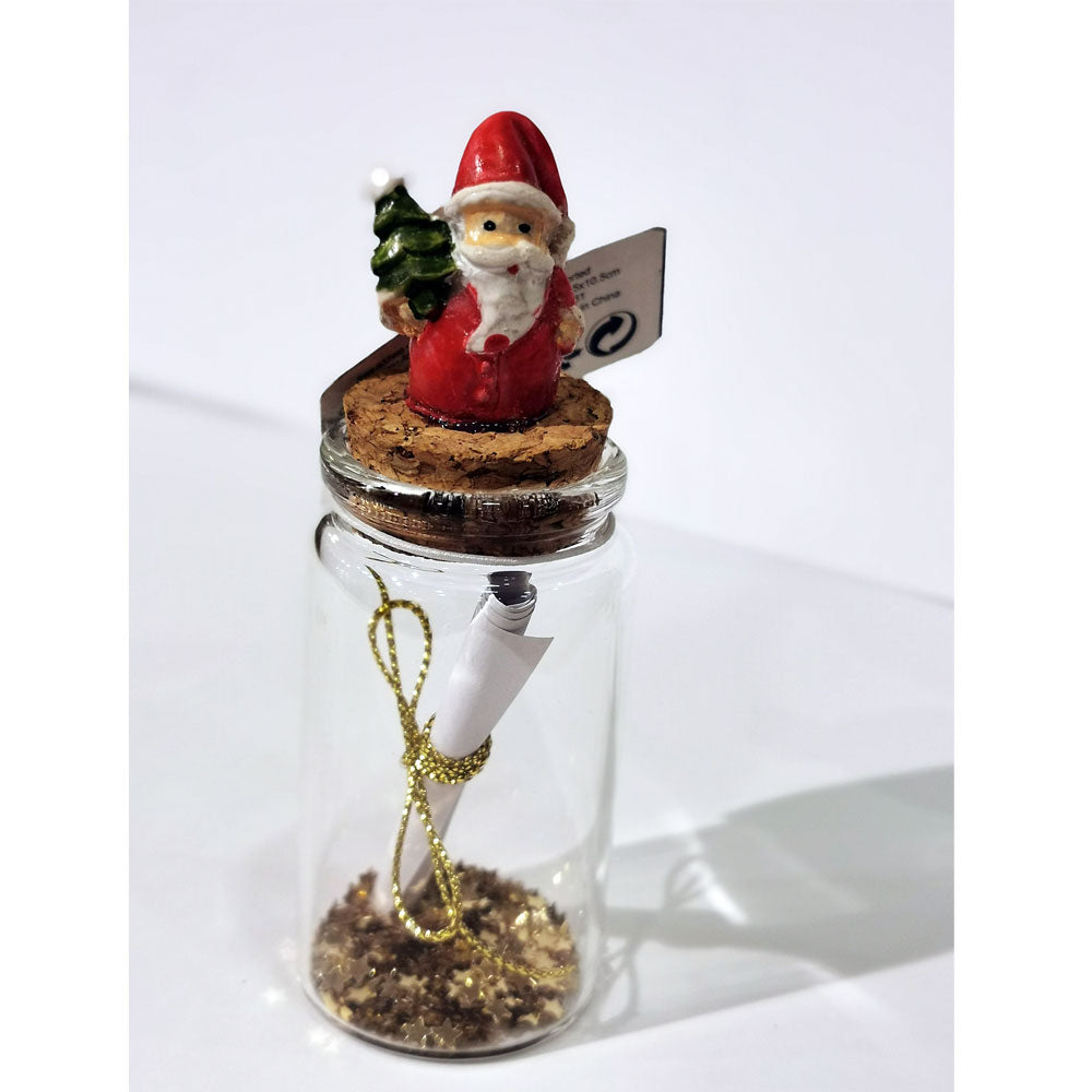 Decoris Message in Glass Bottle Ornament