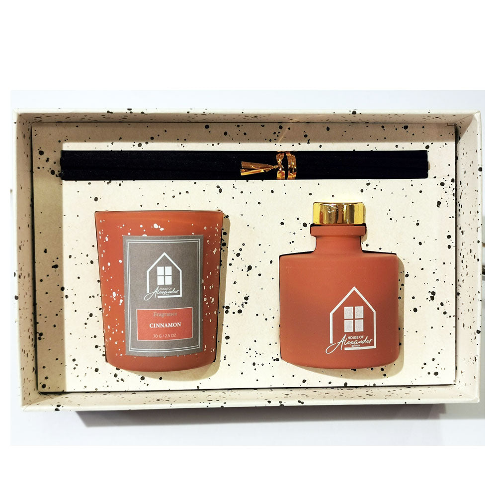 House of Alexander Deluxe Candle Cinnamon Gift Set