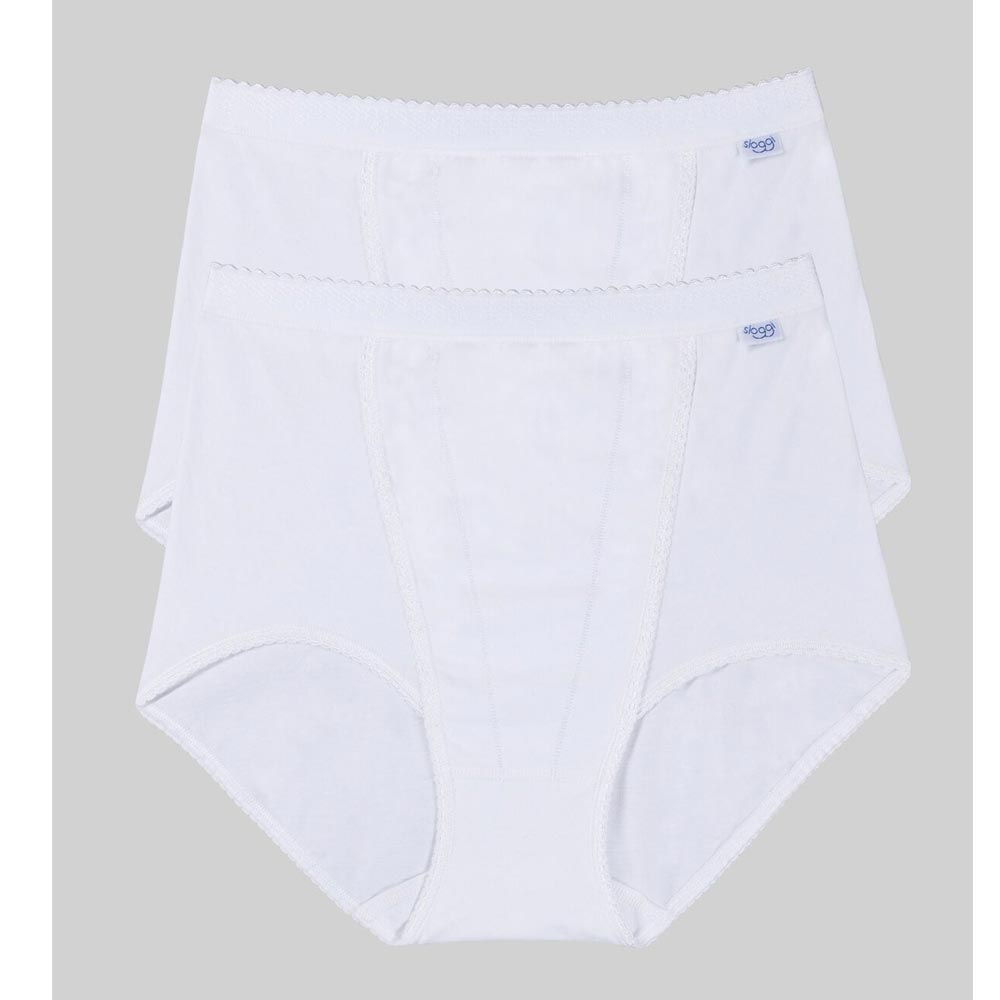 Sloggi Control Maxi Brief - 2 pack - white