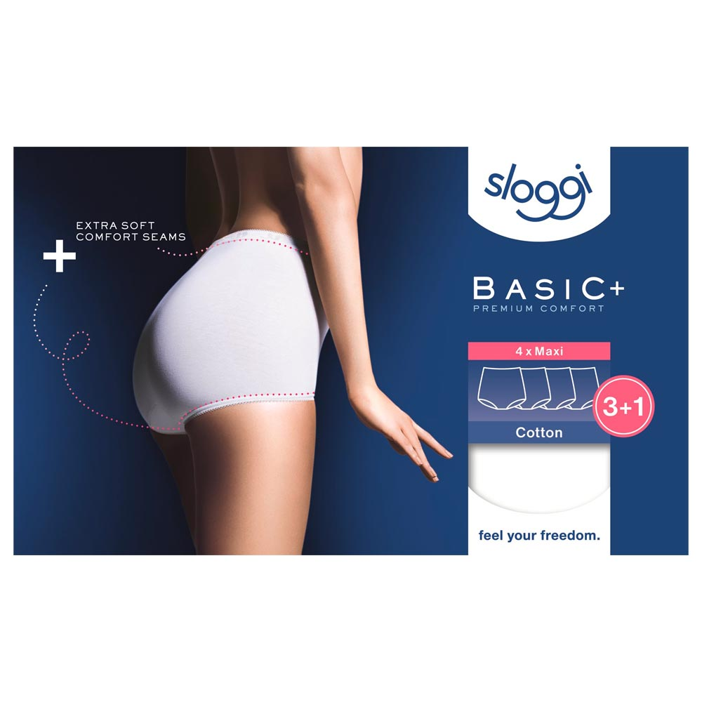 Sloggi Basic+ Maxi Brief - 4 pack - white