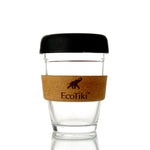 Reusable Glass Coffee Cup (Black)