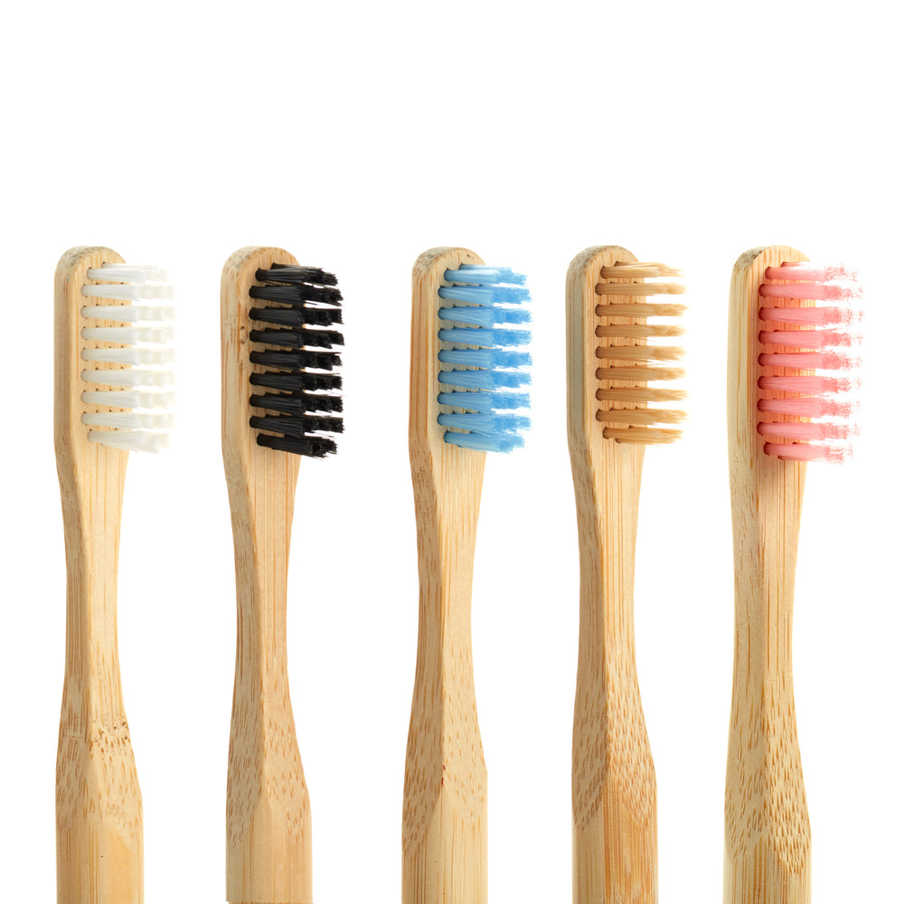 Biodegradable stylish Bamboo Toothbrush (Black, Soft bristles) - Ecotiki