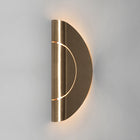 FURL WALL LIGHT CIRCLE BRASS