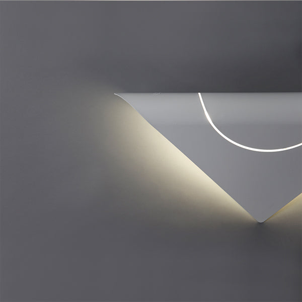 FURL WALL LIGHT TRIANGLE WHITE