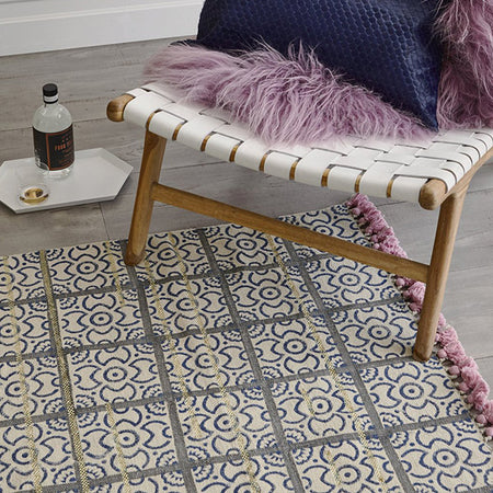 BLUSH AND BLUE ZEPPELIN RUG