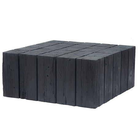 UNIQWA HAMALI CHARRED BLOCK COFFEE TABLE