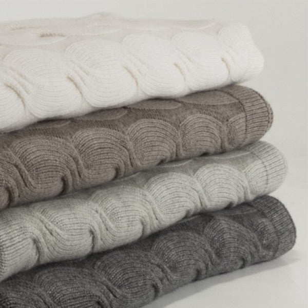 BEMBOKA CASHMERE CHUNKY CABLE THROW