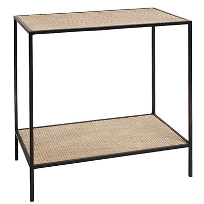 MANHATTAN RATTAN BLACK SIDE TABLE