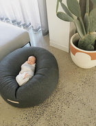 LARGE DARK GREY QUILTED NEST BEAN BAG